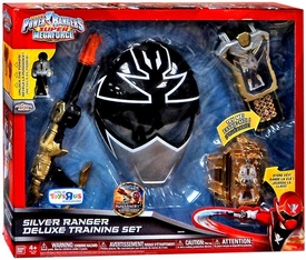 Power Rangers SUPER Megaforce Exclusive Deluxe Training Set Silver Ranger  New!