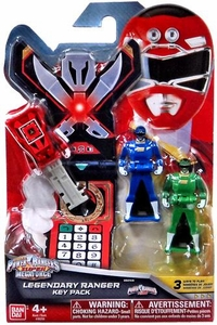 Power Rangers SUPER Megaforce Legendary Ranger Key Pack Turbo New!