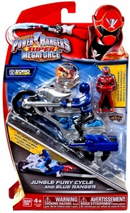 Power Rangers Super Megaforce Vehicle & Action Figure Jungle Fury Cycle & Blue Ranger