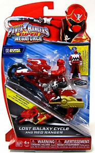 Power Rangers Super Megaforce Vehicle & Action Figure Lost Galaxy Cycle & Red Ranger New!