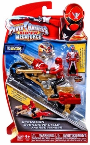 Power Rangers Super Megaforce Vehicle & Action Figure Operation Overdrive Cycle & Red Ranger New!