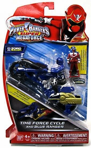 Power Rangers Super Megaforce Vehicle & Action Figure Time Force Cycle & Blue Ranger New!