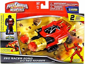 Power Rangers Super Megaforce Vehicle & Action Figure Zeo Racer Zord & Red Ranger