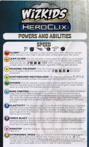 Powers & Abilities Cheat Sheet YuGiOh Heroclix New!