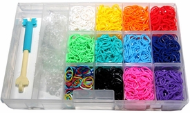 Rainbow Loom Twistz Bandz Refill Bundle Kit with C-clips and Mini Loom - Includes 3900 Bandz + 155 C-clips. 11 Beautiful Colors with Mix and Great Storage Case.