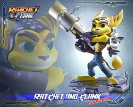Ratchet & Clank Gaming Heads Limited Edition 15 Inch Statue Ratchet & Clank Pre-Order ships December