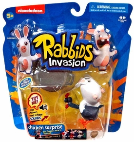 Raving Rabbids Invasion Series 1 Action Figure with Sound Chicken Suprise New!