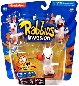 Raving Rabbids Invasion Series 1 Action Figure with Sound Plunger Face