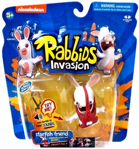 Raving Rabbids Invasion Series 1 Action Figure with Sound Starfish Friend