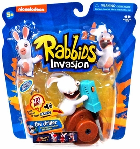 Raving Rabbids Invasion Series 1 Action Figure with Sound The Driller New!