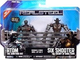 Real Steel Movie BASIC Action Figure 2-Pack Atom Vs. Six Shooter