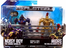 Real Steel Movie BASIC Action Figure 2-Pack Noisy Boy Vs. Midas