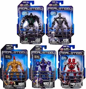 Real Steel Movie Series 1 BASIC Set of 5 Action Figures [Atom, Zeus, Midas, Noisy Boy & Twin Cities]