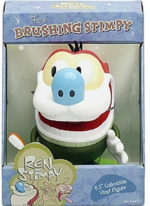 Ren And Stimpy 6.5 Inch Collectible Vinyl Figure Brushing Stimpy
