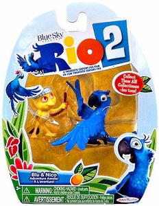Rio 2 Movie Mini Figures 2-Pack Blu & Nico