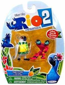 Rio 2 Movie Mini Figures 2-Pack Nigel & Gabi