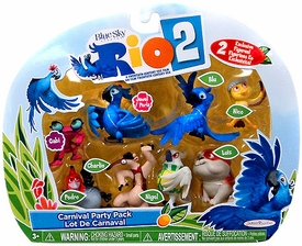 Rio 2 Movie Mini Figures Carnival Party 8-Pack [Nico, Pedro, Blu, Jewel, Luiz, Charlie, Nigel & Gabi]