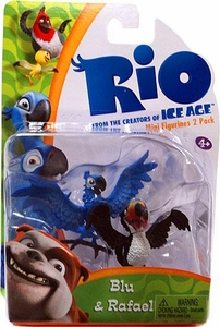 Rio Movie Mini Figures 2-Pack Blu & Rafael