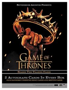 Rittenhouse Game of Thrones Season 2 Trading Card Box [24 Packs]