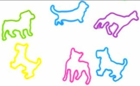 Rubba Bandz Shaped Rubber Bands Bracelets 12-Pack Doggie