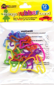 Rubba Bandz Shaped Rubber Bands Bracelets 12-Pack Things BLOWOUT SALE!