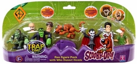 Scooby-Doo Trap Time Action Figure 5-Pack with Who Dunnit Heads Set #1 [with The Creeper, Dracula & Frankenstein's Monster]