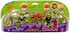 Scooby-Doo Trap Time Action Figure 5-Pack with Who Dunnit Heads Set #2 [Mummy, Wolfman & Zombie]