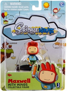 Scribblenauts 2 Inch Mini Figure Maxwell with Wings & Sword