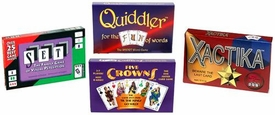 Set Enterprises Family Game 4-Pack Five Crowns, Set Quiddler & Xactika
