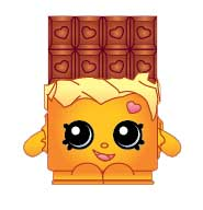 Cheeky Chocolate #1-050 Series 1 Rare Shopkins Sweet Treats