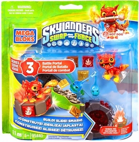 Skylanders SWAP FORCE Mega Bloks Set #95440 Hot Dog's Battle Portal Pre-Order ships August