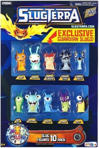 Slugterra Exclusive Mini Figure 10-Pack [Burpy, Spooker, Doc, Buzzsaw, Chiller, Spinner, Bugsy, Guardian Bludgeon, Guardian Stinky & Guardian Joules]