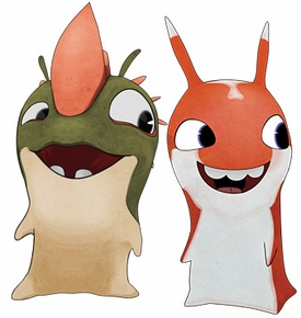 Slugterra Mini Figure 2-Pack Mucky & Flaringo [Includes Code for Exclusive Game Items] Pre-Order ships April