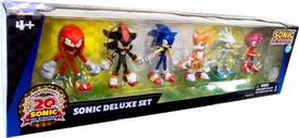 Sonic 20th Anniversary Exclusive Action Figure 6-Pack Sonic DELUXE Set [Tails, Knuckles, Sonic, Amy, Shadow & Silver]