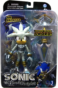 Sonic & Black Knight 5 Inch Metallic Action Figure Silver Sir Galahad New!