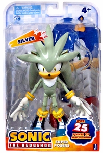 Sonic Super Posers Action Figure Silver New!