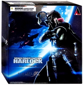 Space Captain Harlock Play Arts Kai Action Figure Captain Harlock New!