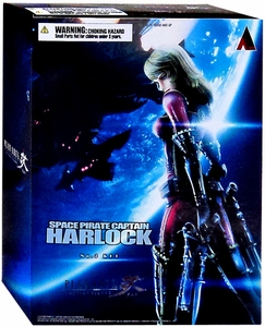 Space Captain Harlock Play Arts Kai Action Figure Yuki Hotaru New!