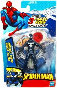 Spider-Man 3.75 Inch Action Figure Black Spider-Man with Glider