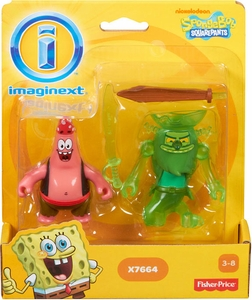 SpongeBob Squarepants Imaginext Exclusive Mini Figure 2-Pack Patrick & The Flying Dutchman