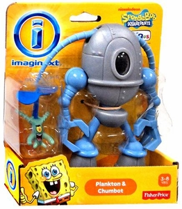 SpongeBob Squarepants Imaginext Exclusive Mini Figure 2-Pack Plankton & Chumbot