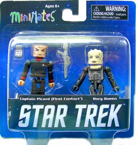 Star Trek Legacy Minimates Series 1 Mini Figure 2-Pack First Contact Captain Picard & Borg Queen