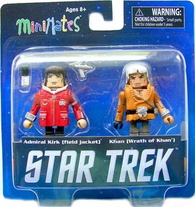 Star Trek Legacy Minimates Series 1 Mini Figure 2-Pack Star Trek II Captain Kirk & Khan