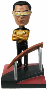 Star Trek The Next Generation Build - A - Bridge Bobble Head Laforge New!
