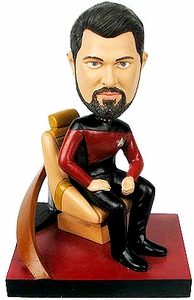 Star Trek The Next Generation Build - A - Bridge Bobble Head Riker New!