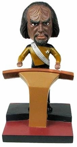 Star Trek The Next Generation Build - A - Bridge Bobble Head Worf New!