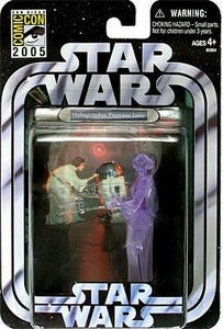 Star Wars 2005 Transitional Comic Con Exclusive Action Figure Holographic Leia