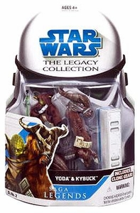Star Wars 2008 Legacy Collection Saga Legends Action Figure SL No. 02 Yoda with Kybuck