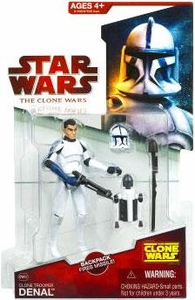 Star Wars 2009 Clone Wars Animated Action Figure CW No. 20 Clone Trooper Denal