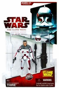 Star Wars 2009 Clone Wars Animated Action Figure CW No. 32 Commander Thire